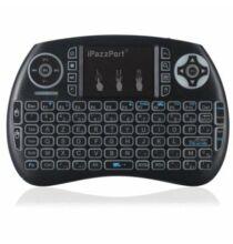 iPazzPort Vezetéknélküli Mini Billentyűzet Egérpaddal