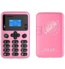 AEKU A6 2G Kártya méretű telefon magyar menü - Rózsaszín