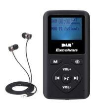 Excelvan Hordozható Digital DAB DAB+ FM Rádió MP3 Lejátszó
