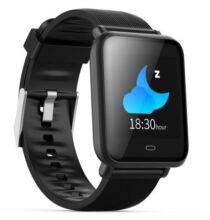 Q9 Vízálló okostelefonhoz csatlakoztatható Egézség figyelő sporttevékenység figyelő okosóra - Fekete