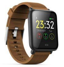 Q9 Vízálló okostelefonhoz csatlakoztatható Egézség figyelő sporttevékenység figyelő okosóra - Barna