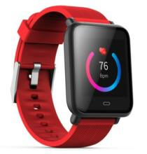 Q9 Vízálló okostelefonhoz csatlakoztatható Egézség figyelő sporttevékenység figyelő okosóra - Piros