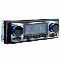 Autós Univerzális 1 DIN Bluetooth Fejegység - Fekete