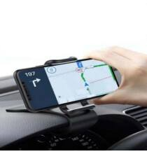 360 fokban forgatható műszerfalra csíptethető autós univerzális telefon tartó