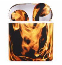 I7S Vezetéknélküli Bluetooth Fülhallgató Töltő Tokkal - Narancssárga
