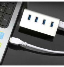 USB3.0 4 USB Portos elosztó laptophoz és asztali számítógéphez