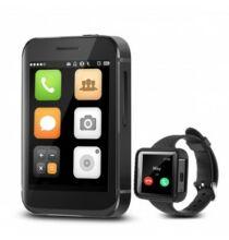 EU ECO Raktár - Flowfon I5S Mini Okos Karóra Mobil - Fekete