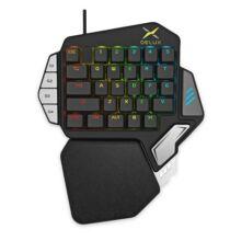 EU ECO Raktár - Delux T9X 33 Gombos Egykezes Gamer RGB Billentyűzet