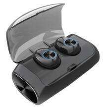 TWS - V6 Vezetéknélküli Bluetooth Fülhallgató - Fekete