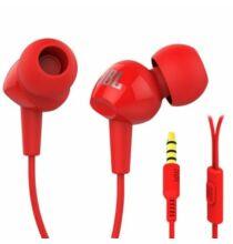 JBL C100SI 3.5mm vezetékes jack csatlakozóval rendelkező mikrofonos fülhallgató - Piros
