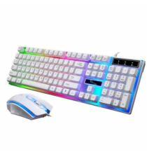 G21 RGB Gamer Billnetyűzet + Egér Szett - Fehér
