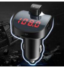 Bluetooth Autós MP3 Lejátszó És Kihangosító FM Transzmitter USB Porttal - Fekete