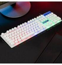 TX30 USB RGB Világítással Rendelkező Mechanikus Billentyűzet - Fehér