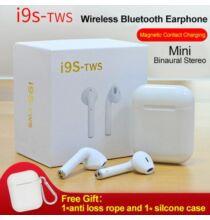 TWS i9s Twins Vezetéknélküli Mini Bluetooth Fülhallgató Töltő Tokkal - Fehér