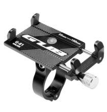 Kerékpárra és  Motorkerékpárra szerelhető Mobiltelefon tartó - Fekete