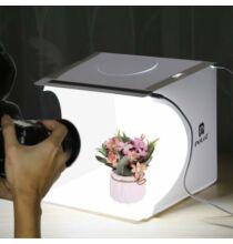 Bilikay PULUZ Mini Fotó Stúdió Box 2 LEDDEL - Fehér