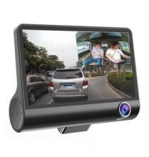 Tecney 3 4.0 Inches Autós DVR Menetrögzítő Kamera - Fekete