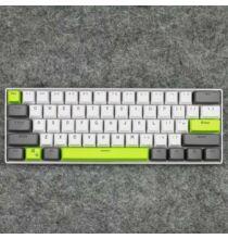 61 Gombos ANSI Kiosztású Mechanikus BIllentyűzet - Zöld/Sárga