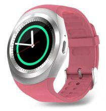 Y1 Smart Vezetéknélküli Bluetooth Aktivitásmérő Sport Okos Karkötő - Rózsaszín