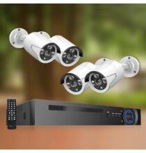 EU ECO Raktár - Stalwall N1 H.265 Kültéri Vízálló IR Biztonsági CCTV IP Kamera Video Rendszer NVR 8CH 1080P 2MP POE - Fehér