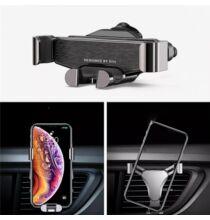 Metal GravityAir Autós Mobiltelefon Tartó Állvány - Fekete