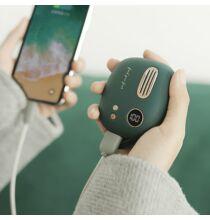 Mini Hordozható 2 in 1 5000mAh Mobile Power Bank Külső Akkumulátor - Zöld