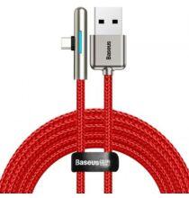 Baseus Elbow LED 40W Gyorstöltésre Alkalmas USB Type-C Adat És Töltőkábel - Piros