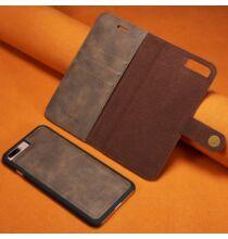 Mágneses Okostelefon Védő Bőrtok iPhone 7 Plus / 8 Plus Készülékre - Szürke