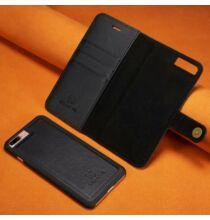 Mágneses Okostelefon Védő Bőrtok iPhone 7 Plus / 8 Plus Készülékre - Fekete