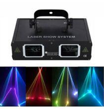 EU ECO Raktár - 2 Lens RGB Lézer Robotlámpa - Fekete