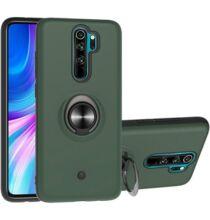 2-IN-1-GYRO Ütésálló Mobiltelefon Védőtok Xiaomi Redmi Note 8 Pro - Sötét Zöld