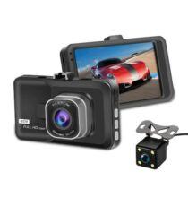 Autós Menetrögzítő DVR 1080P HD Kamera 160 Fokos Látószöggel - Fekete