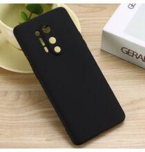 Szilikon Mobiltelefon Tok One Plus 8 Pro - Fekete