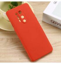 Szilikon Mobiltelefon Tok One Plus 8 Pro - Piros