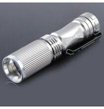 600LM CREE XP - E Q5 állítható fókusz LED lámpa - Ezüst