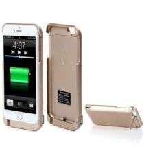 8000mAh Power Bank Védő Tok Levehető dizájn Jelző Fénnyel iPhone 6 Plus Okostelefonhoz - Arany