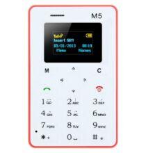 AEKU M5 Kártyamobil 4.5 mm-es ultravékony alacsony sugárzású zsebtelefon - Pink