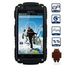 EU ECO Raktár - Discovery V8 Strapabíró 3G Okostelefon - Fekete