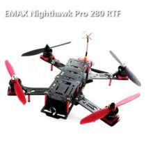 EU ECO Raktár - EMAX Nighthawk Pro 280 ARF Karbon és üvegszálas Quadcopter kamerával távirányítóval - Fekete