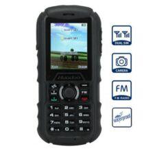 Huadoo H1 2.0 IPS MTK6261A Nucleus OS strapabíró mobiltelefon - Fekete