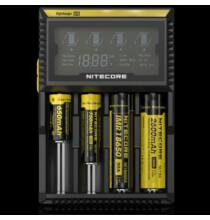 Nitecore D4 Li-ion Ni-MH NiCd LiFePO4 akkumulátor töltő LCD kijelzés