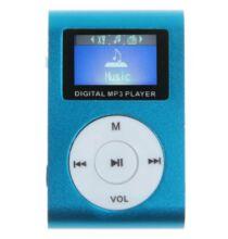 LCD kijelzős MP3 lejátszó FM rádió SD kártya bővíthetőség - Kék