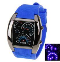 LED Car Watch Kék fény szilikon óraszíj unisex - Kék