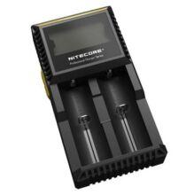 Nitecore D2 Intelligens akkumulátor töltő (CN) - Fekete - EU csatlakozó