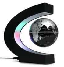 Levitációs földgömb dekoráció LED világítással