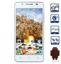 """EU ECO Raktár - Mpie MP158+ 5.0"""" qHD Android 4.4 MTK6582 3G Okostelefon - Fehér"""