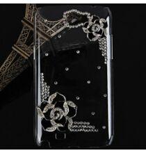 Díszes Samsung Galaxy Note 2 N7100 tok - Fekete