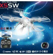 Syma X5SW Explorers 2 FPV képes 2.4G 6 tengelyes 4 csatornás 0.3MP Drón - Fehér