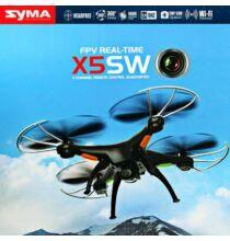 Syma X5SW Explorers 2 FPV képes, 2.4G 6 tengelyes 4 csatornás 0.3MP Drón - Fekete