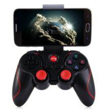 T3 vezeték nélküli Bluetooth 3.0 játékkontroller Android okostelefonhoz – Fekete